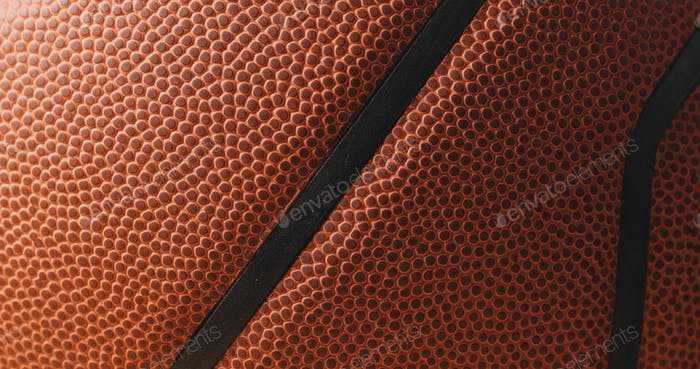 Leather basketball skin