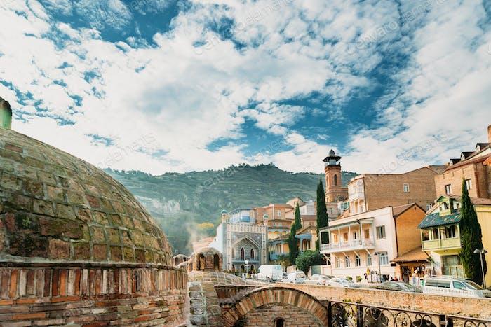 Tbilisi, Georgia. Abanotubani - Bath District - Is Ancient Distr
