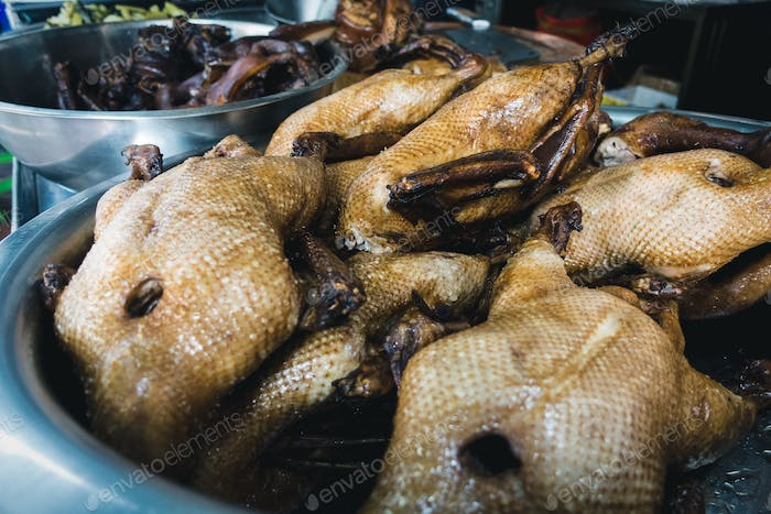 Street food roasted duck