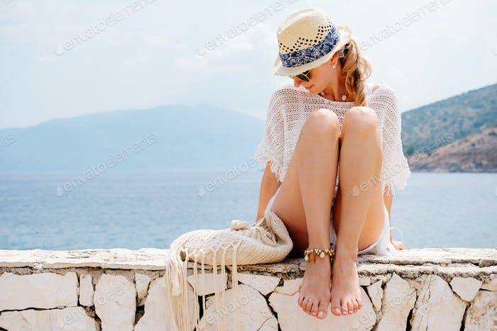 Beauty woman at the seaside