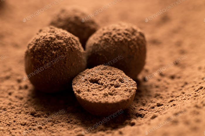 Homemade yummy chocolate truffles