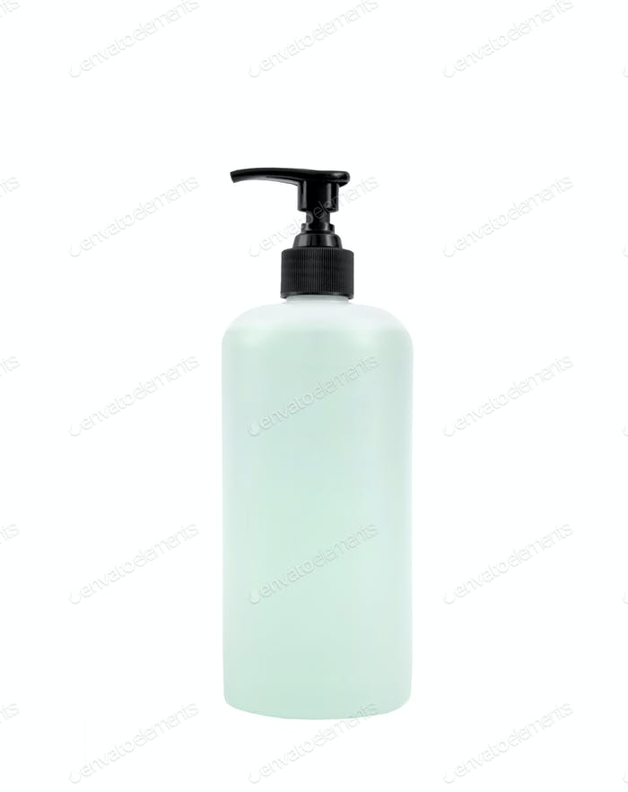 Liquid soap isolated on white