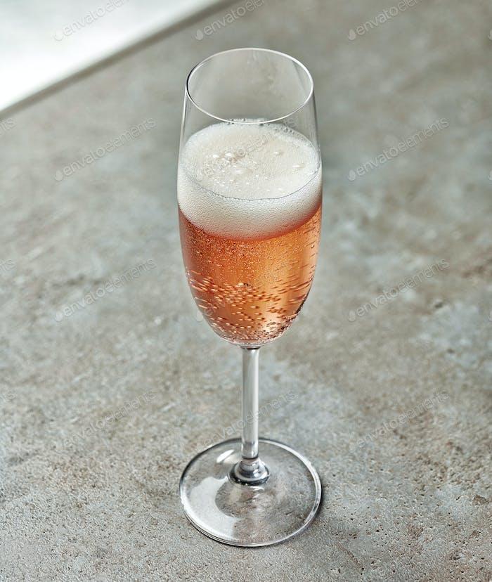 Glas rosa Champagner