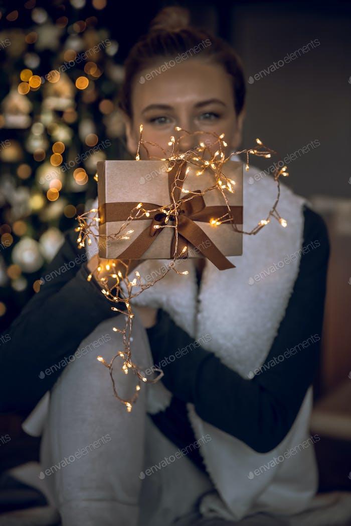 Receiving Christmas Gift