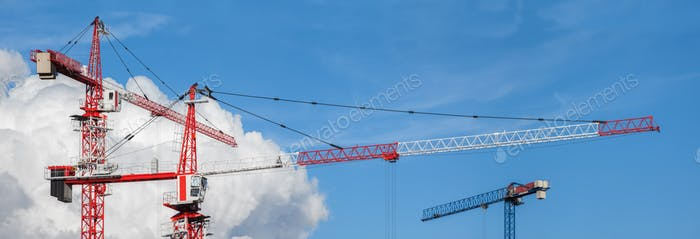 Lots of tower cranes