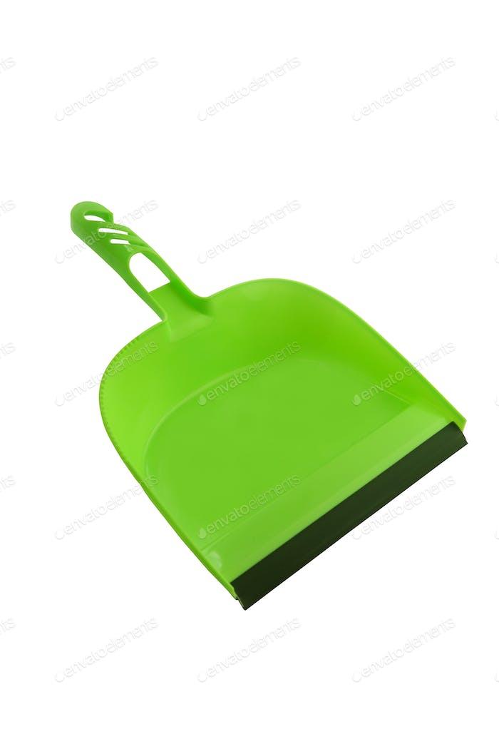 Green dustpan