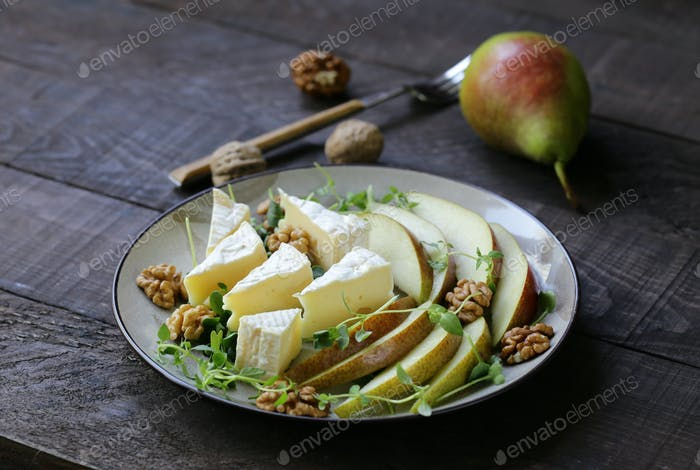 Camembert Cheese with Pear