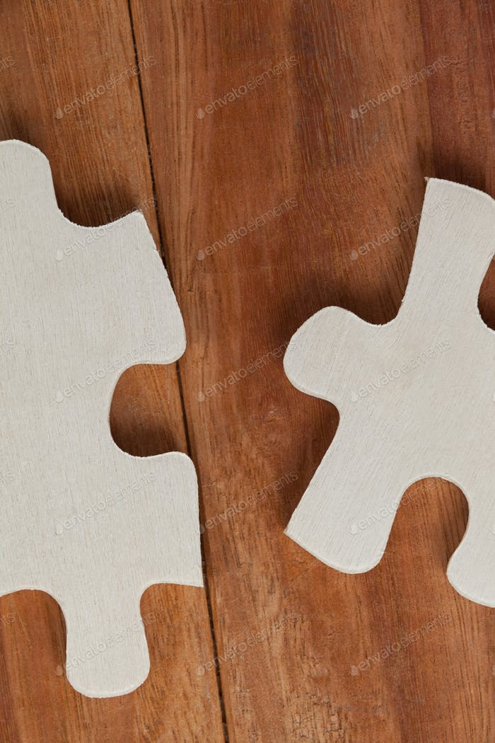 Two piece of jigsaw puzzle