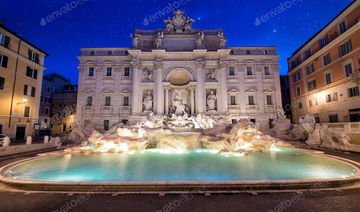 Beautiful Trevi fountain in Rome