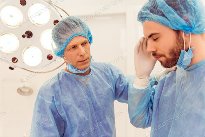 Team surgeons at work