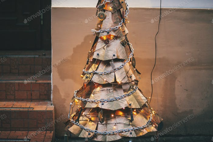 Steampunk christmas tree
