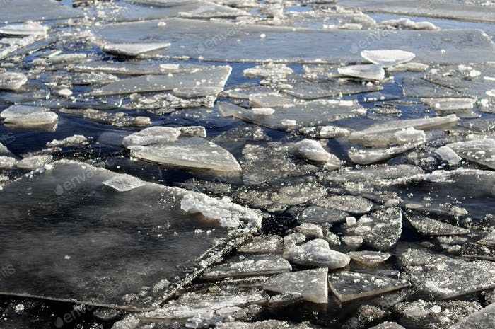 Packed ice in Baltic sea