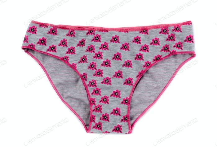 Gray simple women's panties