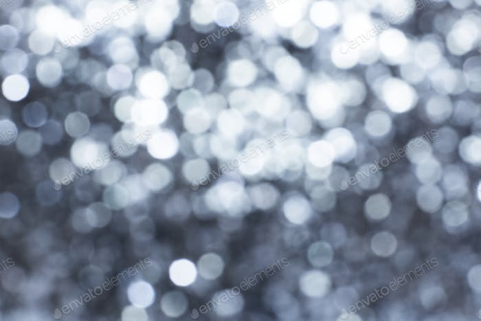 Shiny silver glitter festive background
