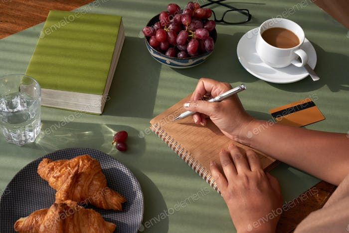 Taking Notes at Breakfast