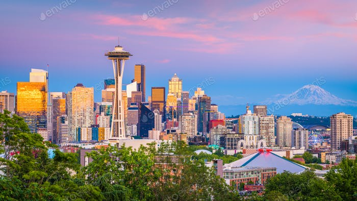 Thumbnail for Seattle, Washington, USA Skyline