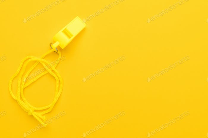 Plastic Yellow Whistle
