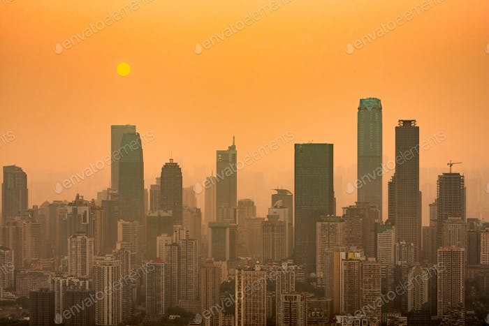 Chongqing, China Innenstadt Skyline über dem Yangtse River