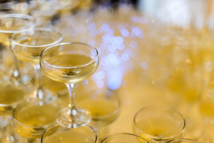 Champagnergläser Pyramide