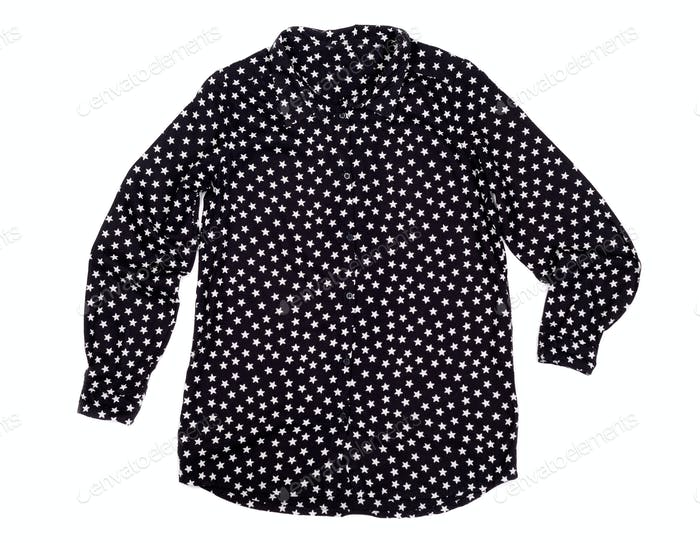 black shirt with white stars