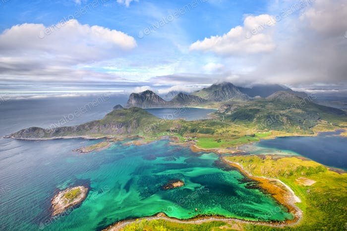 Lofoten Islands from above