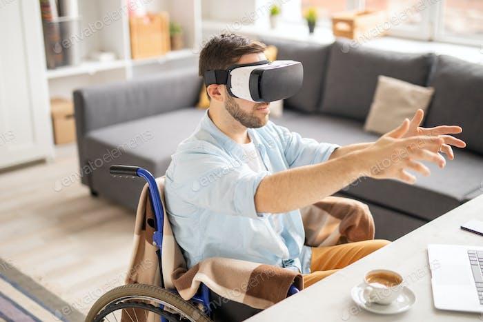 Virtuelle Realität berühren