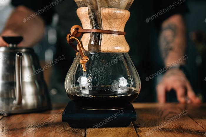 Chemex Filter Kaffee und Wasserkocher