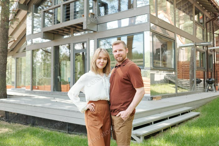 Confident couple have bought new house
