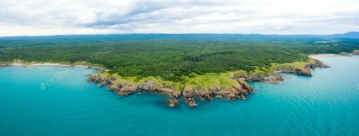 Picturesque rocky coastline