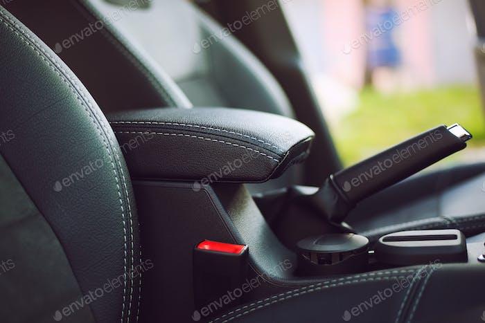 armrest in the luxury passenger car
