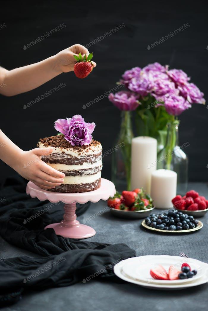 Homemade Layered Chocolate Cake
