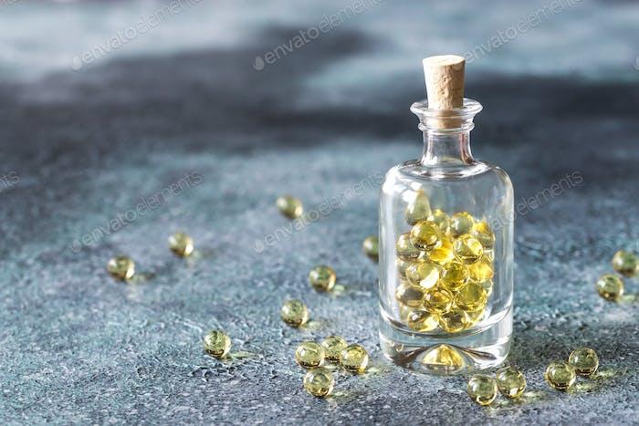 Omega-3 fish oil capsules
