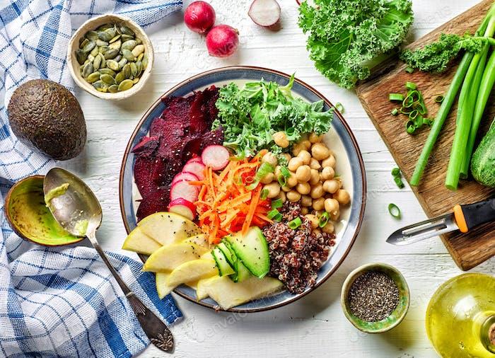 Breakfast vegetable plate