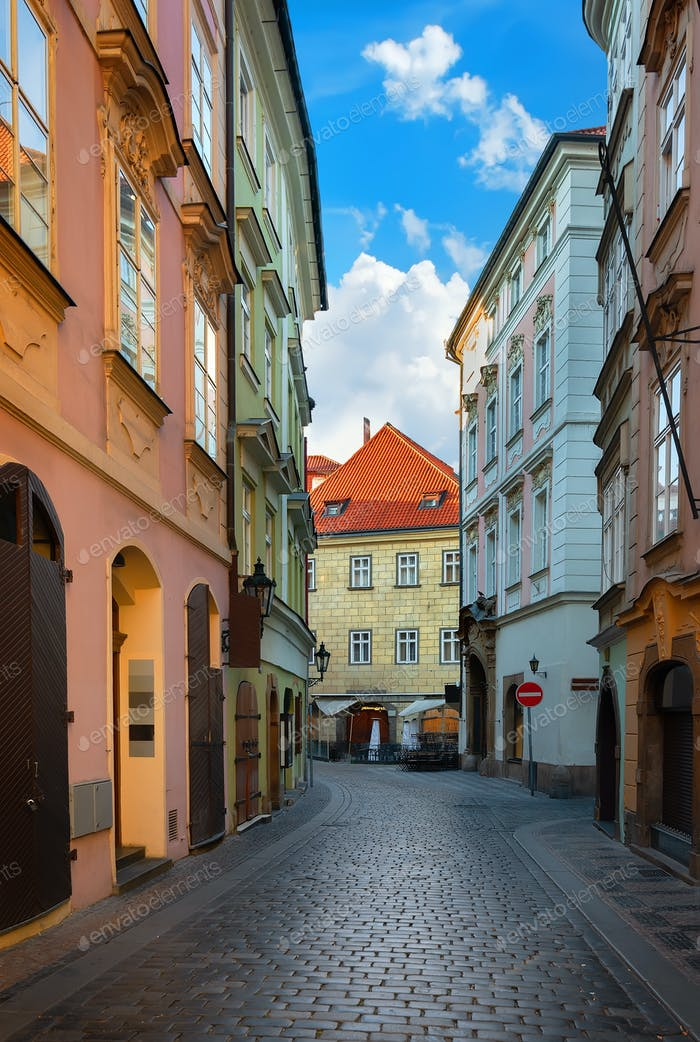Old street of Prague