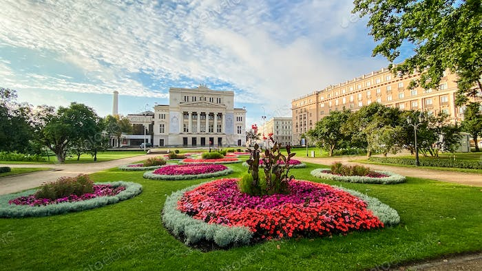 RIGA, LATVIA . Latvian national opera and ballet