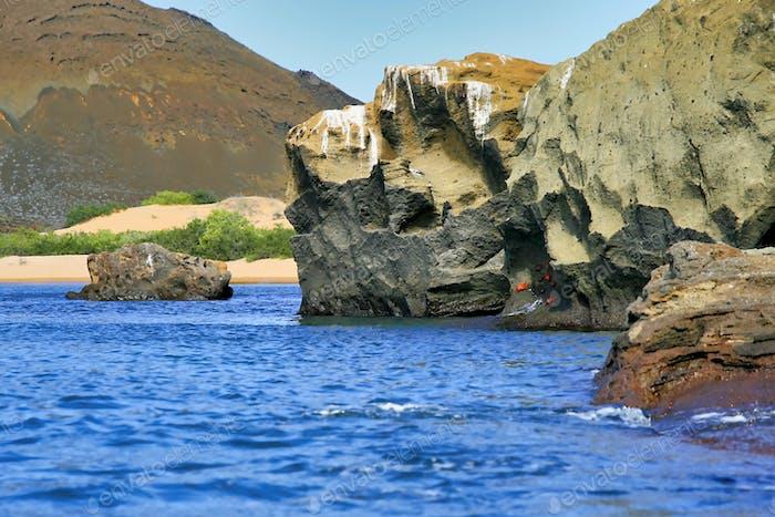 Galapagos Islands Seascape, Galapagos National Park, Ecuador