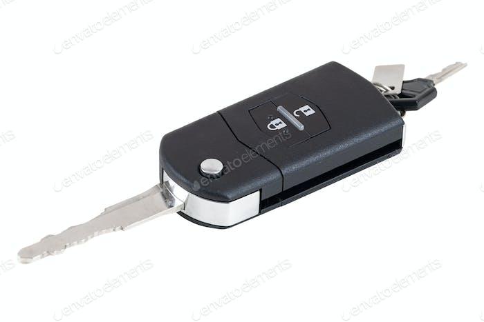 Autoschlüssel auf weißem Hintergrund