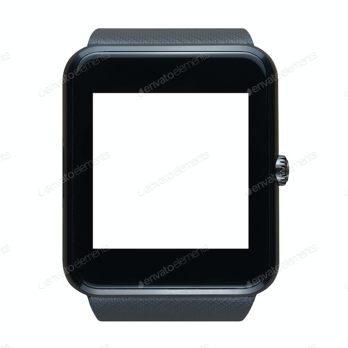 Smart watch isolated on white background