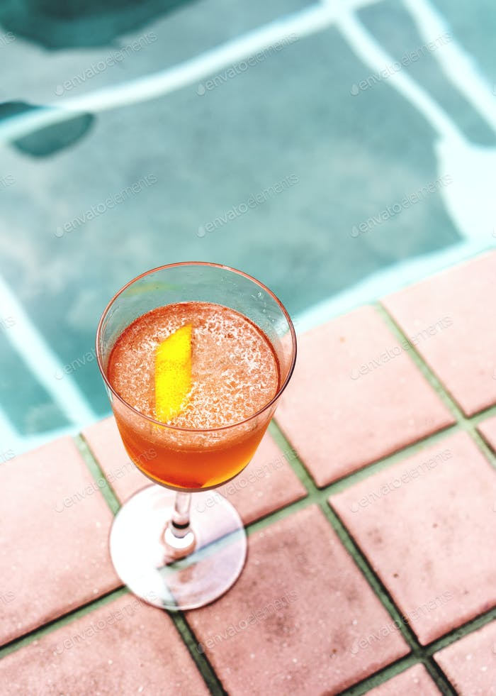 Cocktail drink by the pool