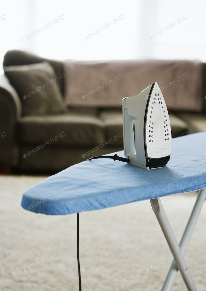 Iron on an Ironing Board