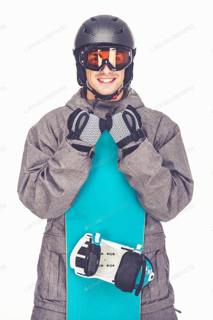 Winter sport, man