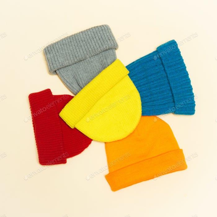 Set caps. Beanie.Minimalism style hipster fashion