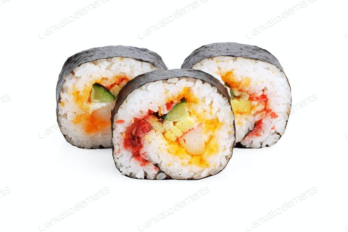 Geschnittene Sushi-Rollen