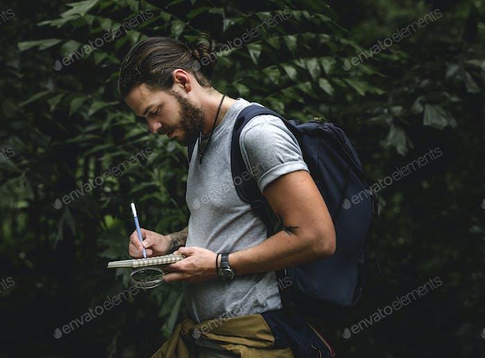 Man make a short note