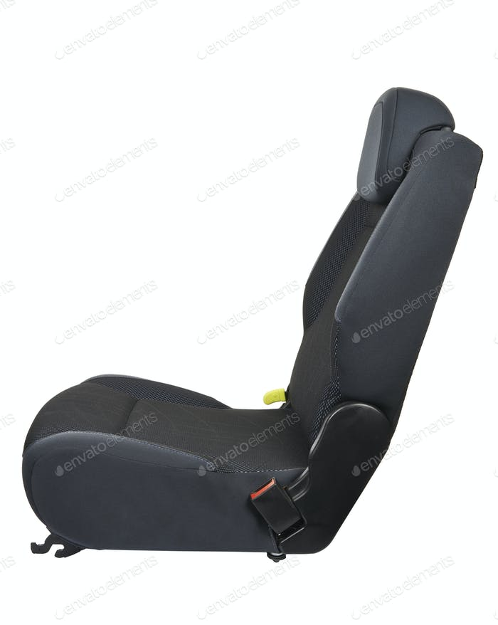Car seat isolated on white background - side view