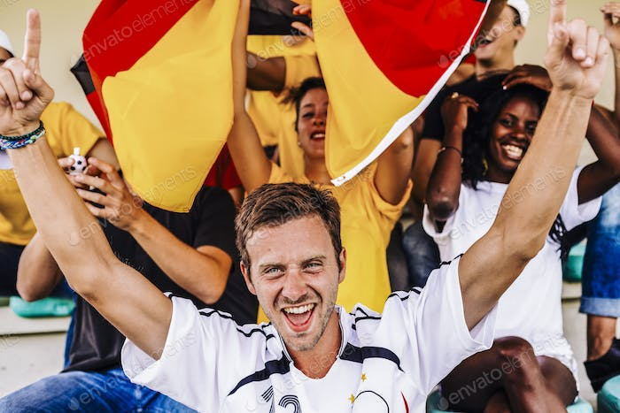Supporters from Germany at Stadium