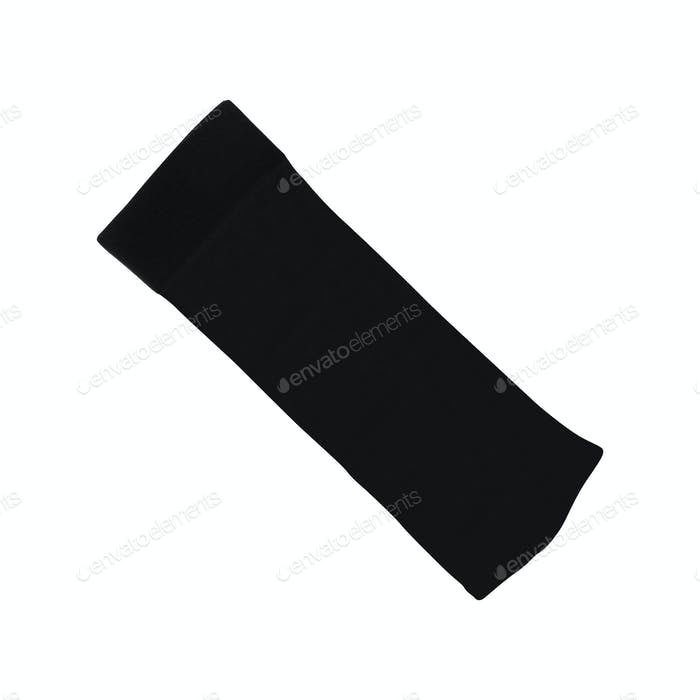 gray sock on a white background