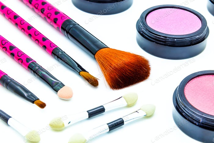 Brushes and cosmetic