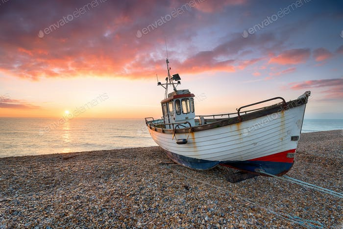 Sunrise at Dungeness in Kent