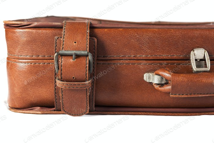 Leather Suitcase Closeup